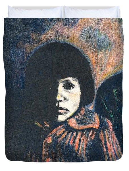 Young Girl Duvet Cover by Kendall Kessler