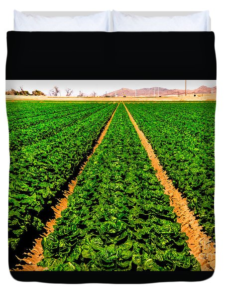 Young Lettuce Duvet Cover by Robert Bales