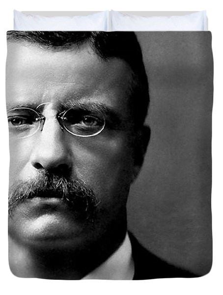 Young Theodore Roosevelt Duvet Cover by Bill Cannon