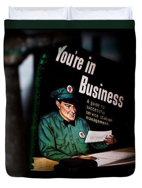 Youre In Business Duvet Cover by Bob Orsillo