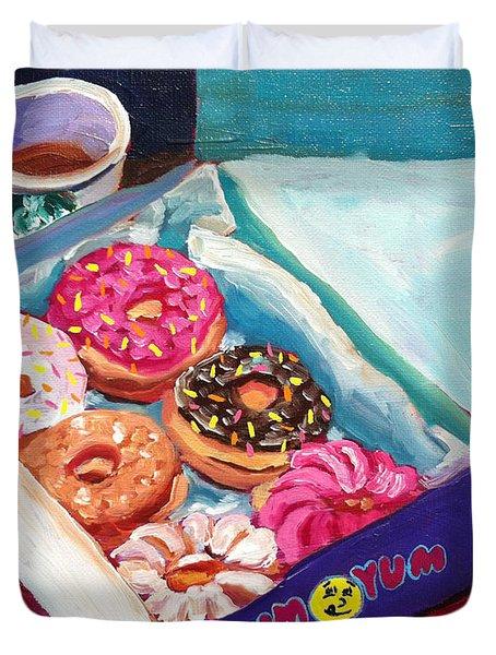 Yum Yum Donuts Duvet Cover by Sean Boyce