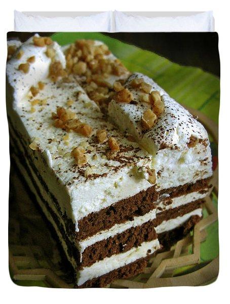 Zebra Cake Duvet Cover by Ausra Paulauskaite