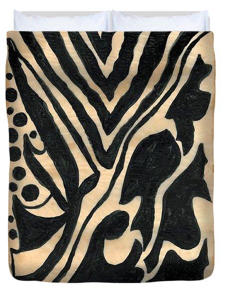 Zebra Duvet Cover by Carla Sa Fernandes