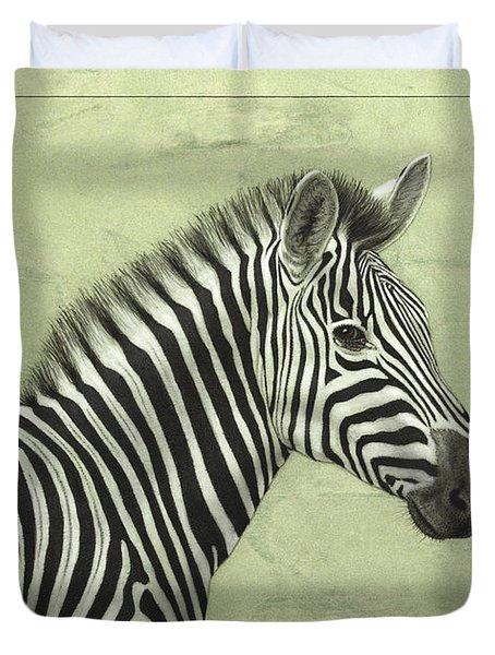 Zebra Duvet Cover by James W Johnson