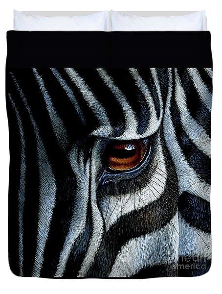 Zebra Duvet Cover by Jurek Zamoyski