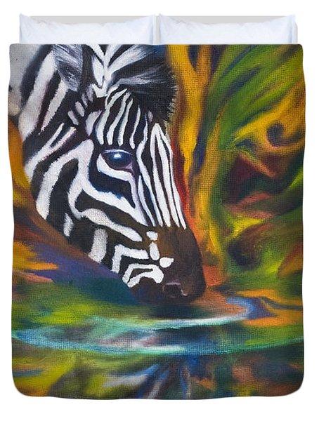 Zebra Duvet Cover by Kd Neeley