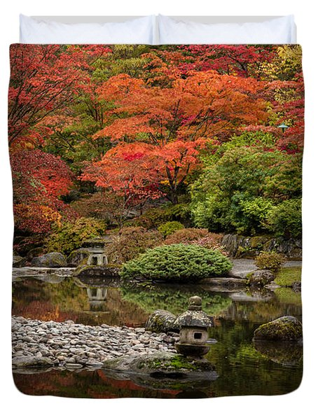 Zen Foliage Colors Duvet Cover by Mike Reid