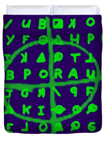Zodiac Killer Code And Sign 20130213p128 Duvet Cover by Wingsdomain Art and Photography