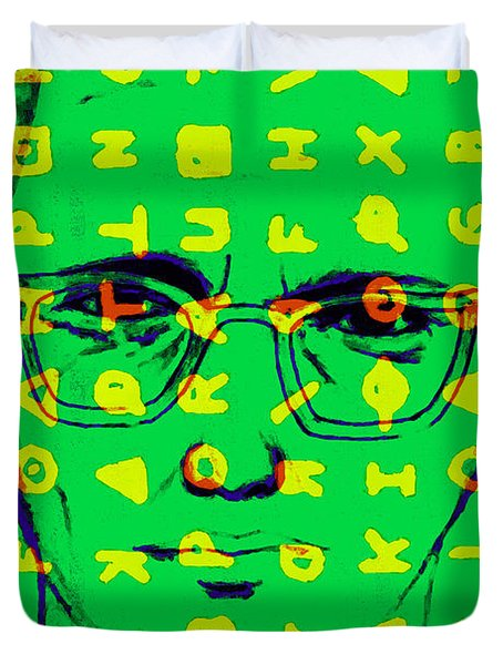 Zodiac Killer With Code and SIgn 20130213 Duvet Cover by Wingsdomain Art and Photography