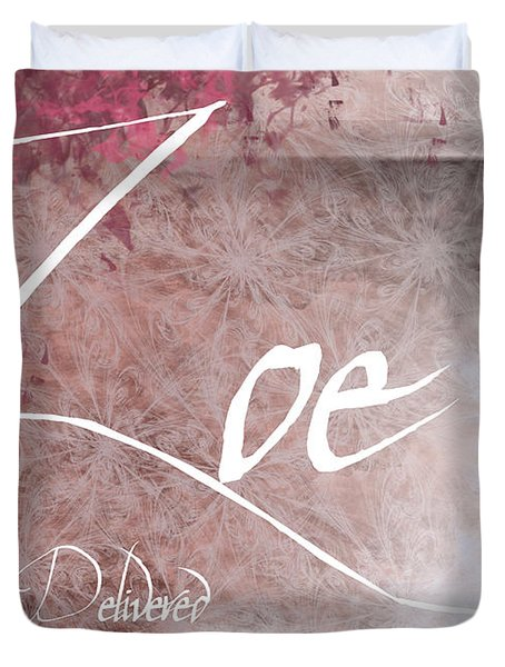 Zoe - Life Delivered Duvet Cover by Christopher Gaston