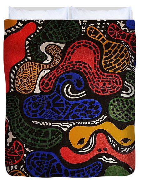 Zoomed In Duvet Cover by Barbara St Jean