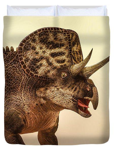 Zuniceratops Dinosaur Duvet Cover by Bob Orsillo
