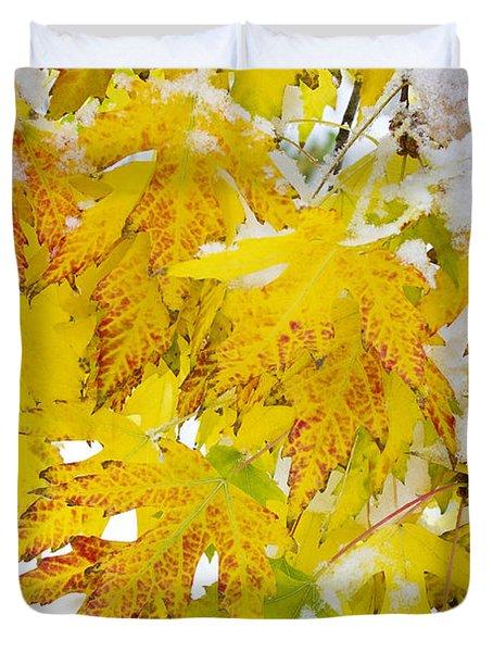 Autumn Snow Portrait Duvet Cover by James BO  Insogna