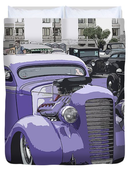 Hot Rod Purple Duvet Cover by Steve McKinzie