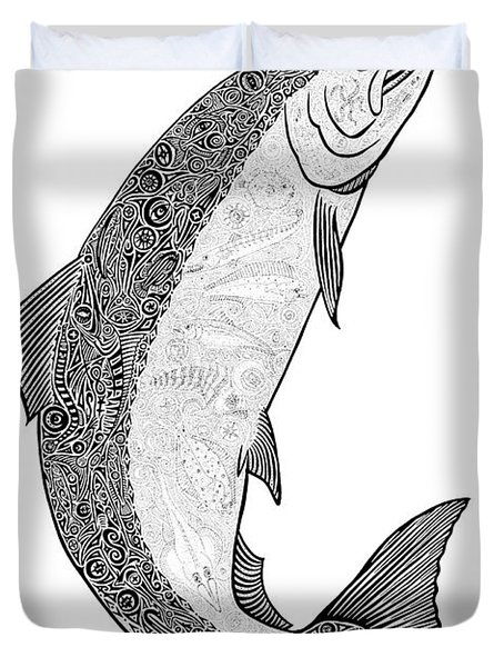 Salmon II Duvet Cover by Carol Lynne
