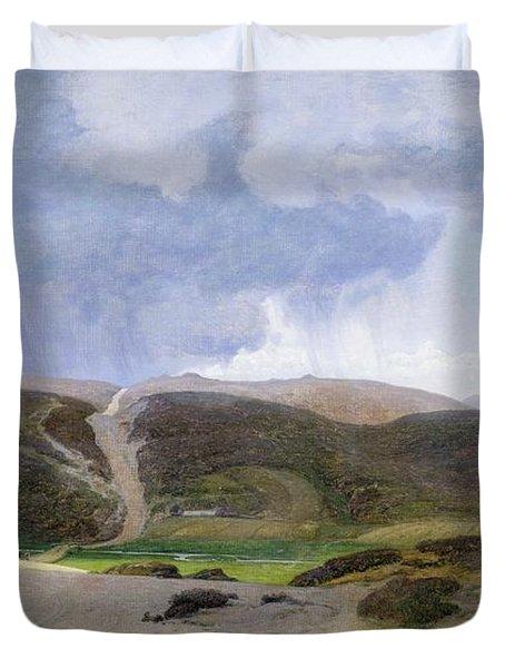 Scandinavian Landscape  Duvet Cover by Janus la Cour