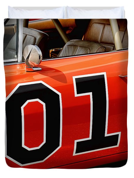 01 - The General Lee 1969 Dodge Charger Duvet Cover by Gordon Dean II