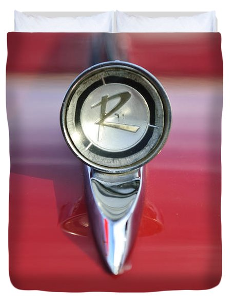 1961 Rambler Hood Ornament Duvet Cover by Jill Reger