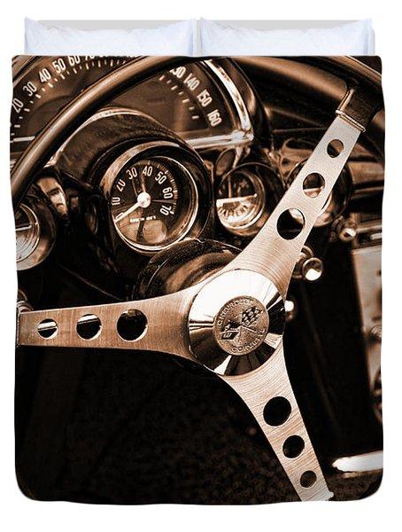 1962 Chevrolet Corvette Duvet Cover by Gordon Dean II