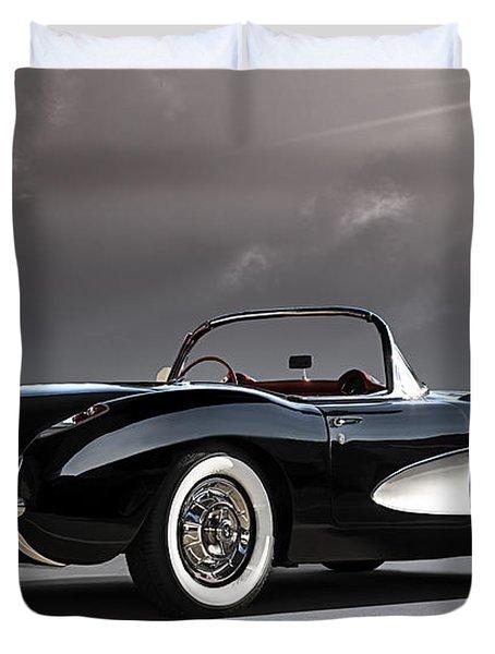 '56 Corvette Convertible Duvet Cover by Douglas Pittman
