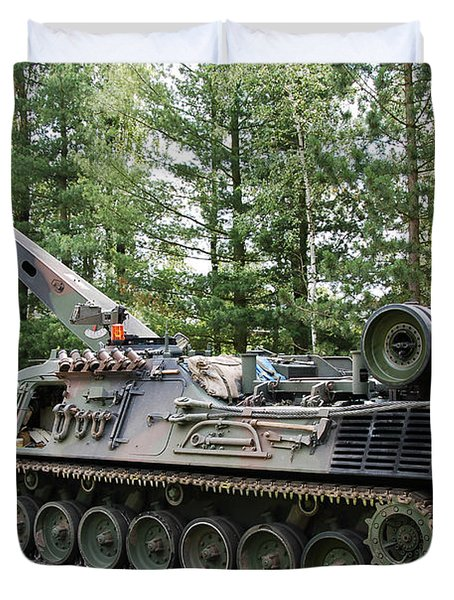 A Leopard 1a5 Mbt Of The Belgian Army Duvet Cover by Luc De Jaeger