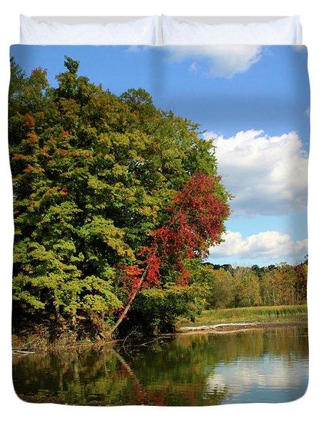 A Touch of Autumn Duvet Cover by Kristin Elmquist