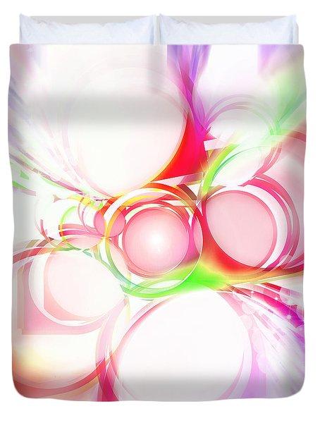Abstract Of Circle Duvet Cover by Setsiri Silapasuwanchai