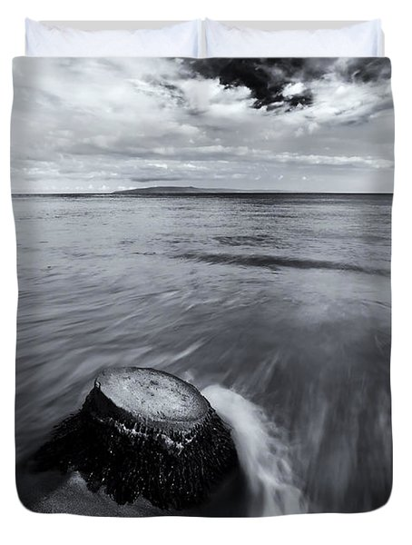 Against The Tides Duvet Cover by Mike  Dawson