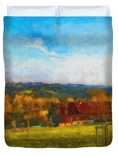 Alpine View Duvet Cover by Jutta Maria Pusl