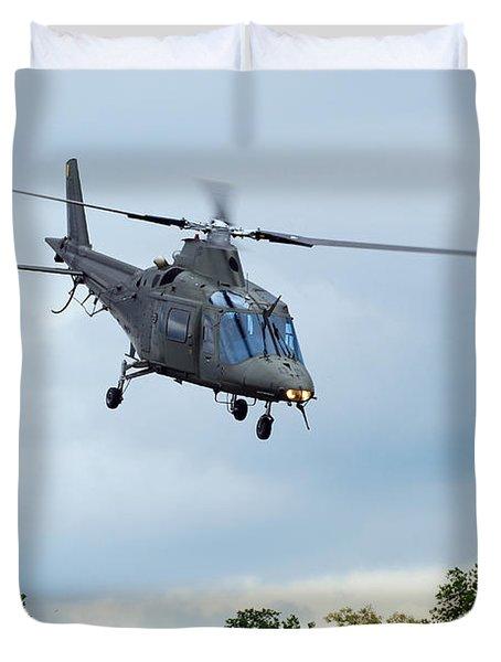 An Agusta A109 Helicopter Duvet Cover by Luc De Jaeger