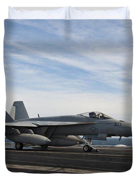 An Fa-18f Super Hornet Takes Duvet Cover by Stocktrek Images