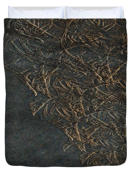 Ancient Fossils Duvet Cover by Christopher Gaston
