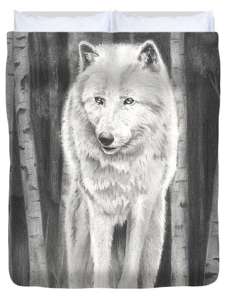 Arctic Wolf Duvet Cover by Christian Conner