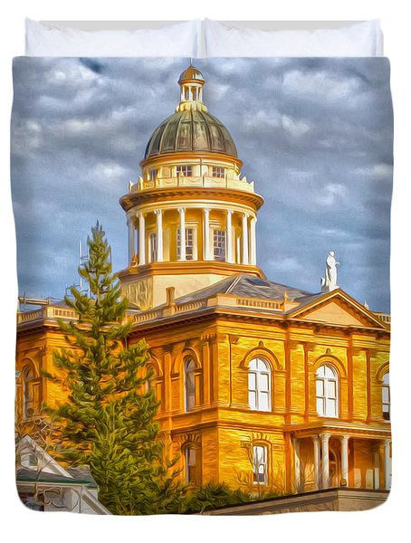 Auburn Courthouse Duvet Cover by Cheryl Young