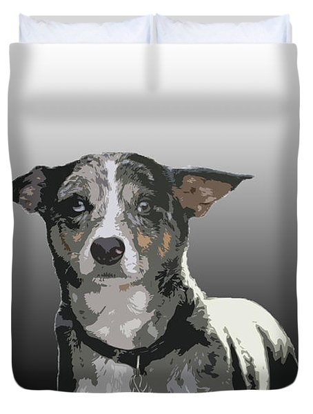 Australian Cattle Dog Sheltie Mix Duvet Cover by One Rude Dawg Orcutt