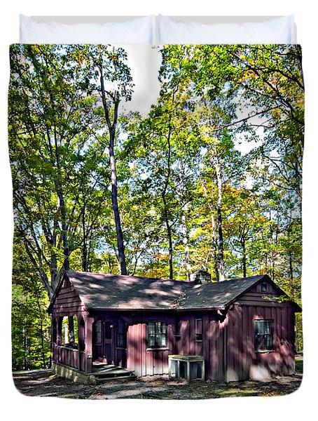 Babcock Cabin Duvet Cover by Steve Harrington