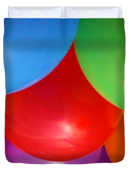 Balloons Background Duvet Cover by Carlos Caetano