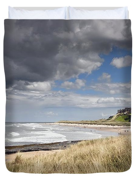 Bamburgh Castle Northumberland, England Duvet Cover by John Short