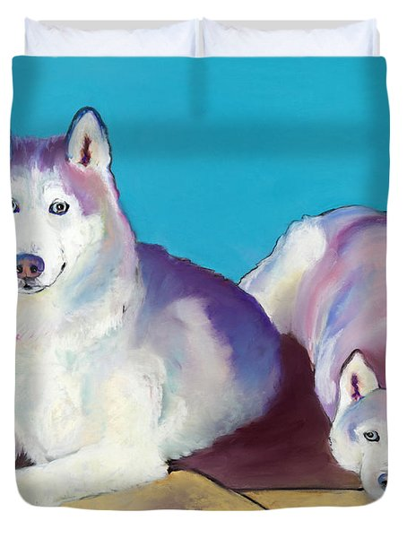 Best Buddies Duvet Cover by Pat Saunders-White