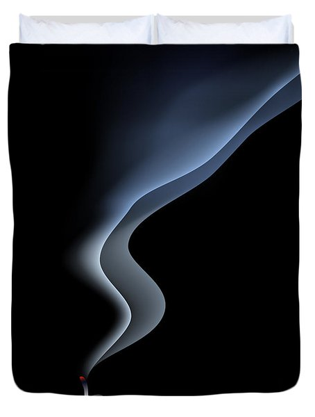 Blown Out Candle Duvet Cover by Michal Boubin