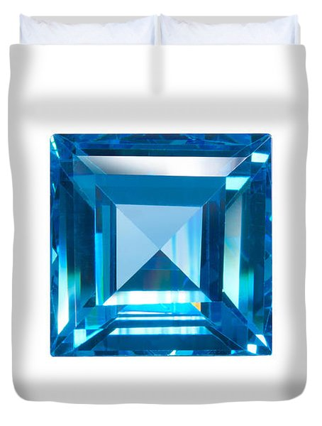 blue sapphire isolated Duvet Cover by ATIKETTA SANGASAENG
