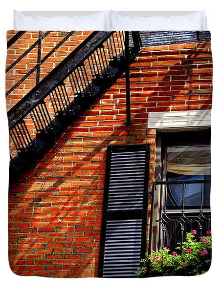 Boston House Fragment Duvet Cover by Elena Elisseeva