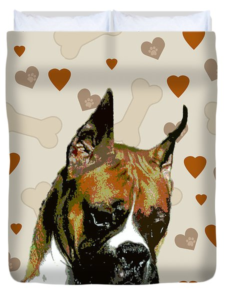 Boxer Duvet Cover by One Rude Dawg Orcutt