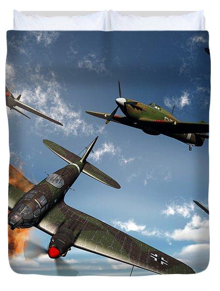 British Hawker Hurricane Aircraft Duvet Cover by Mark Stevenson