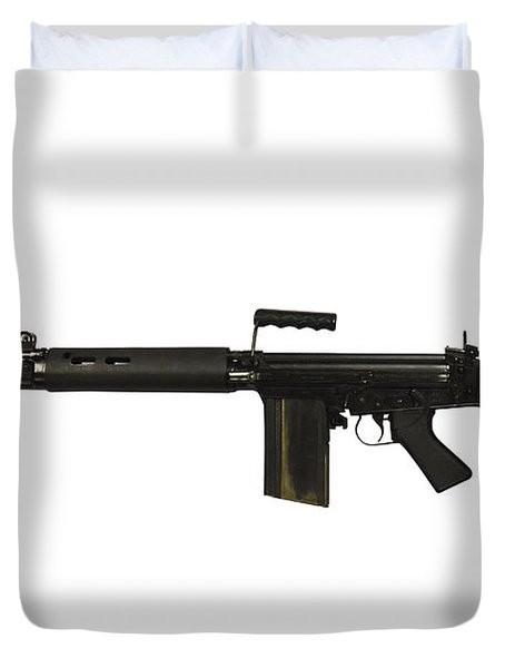 British L1a1 Self-loading Rifle Duvet Cover by Andrew Chittock