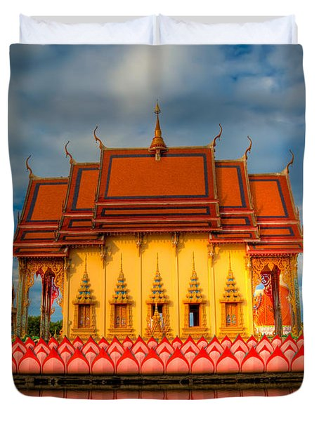 Buddha Temple Duvet Cover by Adrian Evans