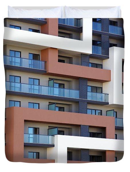 Building Facade Duvet Cover by Carlos Caetano