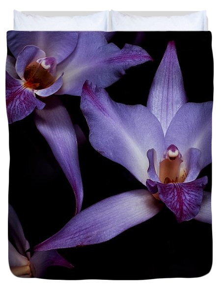 Cattleya Orchids Duvet Cover by Cynthia Dickinson