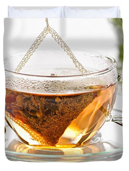 Chamomile tea Duvet Cover by Elena Elisseeva