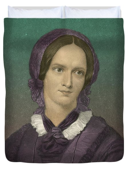 Charlotte Bronte, English Author Duvet Cover by Photo Researchers
